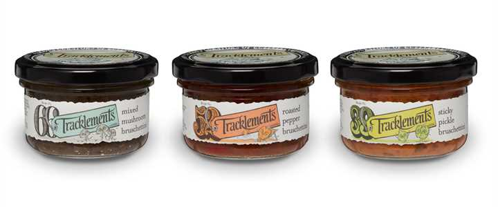 Pots of delicious Bruschettini from Tracklements