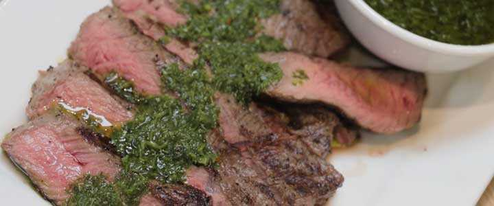 Perfect BBQ Steak with Chimichurri Sauce