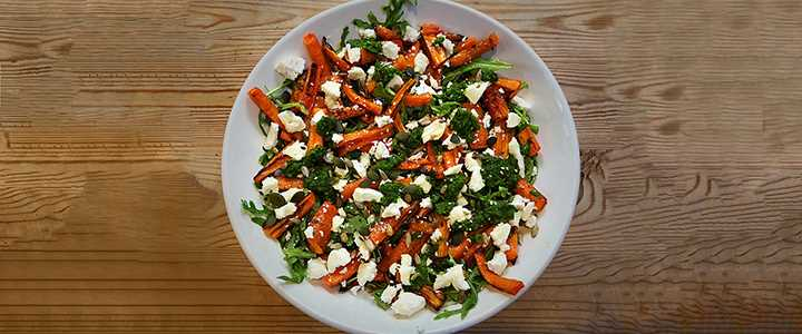 Roast Carrot Salad with Salsa Verde