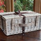 White Lidded Basket