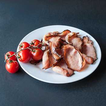 Sweet black back bacon - sliced