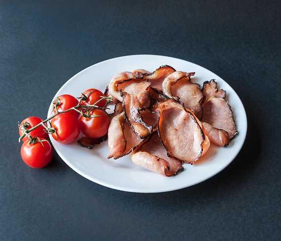 Sweet black back bacon - sliced
